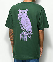 Welcome Black Beak camiseta verde y lavanda