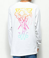 Welcome Saberskull White & Rainbow Long Sleeve T-Shirt