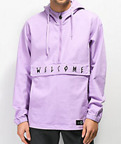 Welcome Scrawl Lavender Anorak Jacket