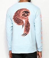 Welcome Sloth camiseta de manga larga azul claro