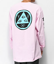 Welcome Tali-Scrawl Pink Long Sleeve T-Shirt