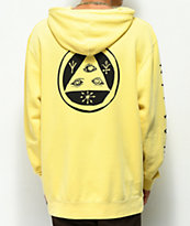 Welcome Taliscrawl Yellow & Black Pigment Dyed Hoodie