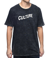 YRN Culture Black Pigment Washed T-Shirt