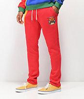 YRN Finesse On Ten pantalones deportivos en rojo, naranja, azul y verde