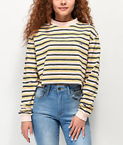 Ziggy Zee Stripe Long Sleeve Crop T-Shirt
