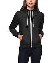 Zine Black Windbreaker Jacket