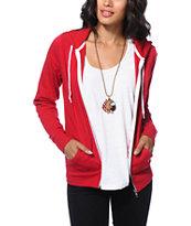 Zine Jester Red Zip Up Hoodie