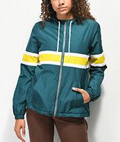 Zine Nolan chaqueta cortavientos verde y amarilla