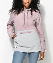 Zine Sabra chaqueta cortavientos en gris y color malva
