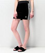 adidas 3 Stripe Black Mini Skirt