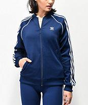 adidas 3-Stripe Collegiate Dark Blue Track Jacket