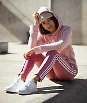 adidas 3 Stripe Mauve Track Pants