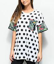 adidas 3 Stripe camiseta tropical de lunares