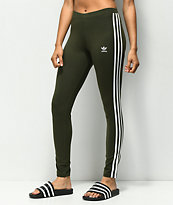 adidas 3 Stripe leggings verdes