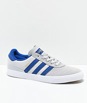 adidas Busenitz Vulc Grey & Dark Blue Suede Shoes