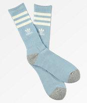 adidas Original Roller Sky Blue & White Crew Socks
