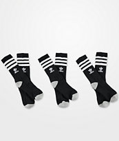 adidas Originals Youth Roller Black Crew Socks 3 Pack