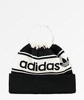 adidas Originals gorro negro y blanco con pompón  55d78fd7b9d