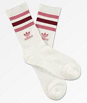 adidas Roller calcetines blancos y borgoñas