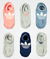 adidas Superlite Rose paquete de 6 calcetines invisibles