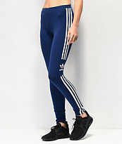 adidas Trefoil 3-Stripe Dark Blue Leggings