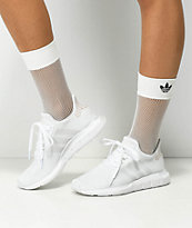 adidas White Fishnet Socks