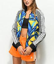 adidas x Farm Leaf Blue & Yellow Track Jacket