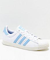 adidas x Krooked Superstar Vulc zapatos en blanco y azul