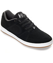 eS Accel Slim Black & White Suede Skate Shoes