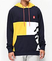 eS Split Navy & Yellow Hoodie